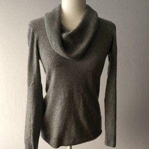 Apt. 9 100% Cashmere Gray Cowl Neck Sweater Sz S